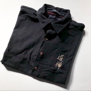 Tommy Hilfiger Button Down Shirt - large - black